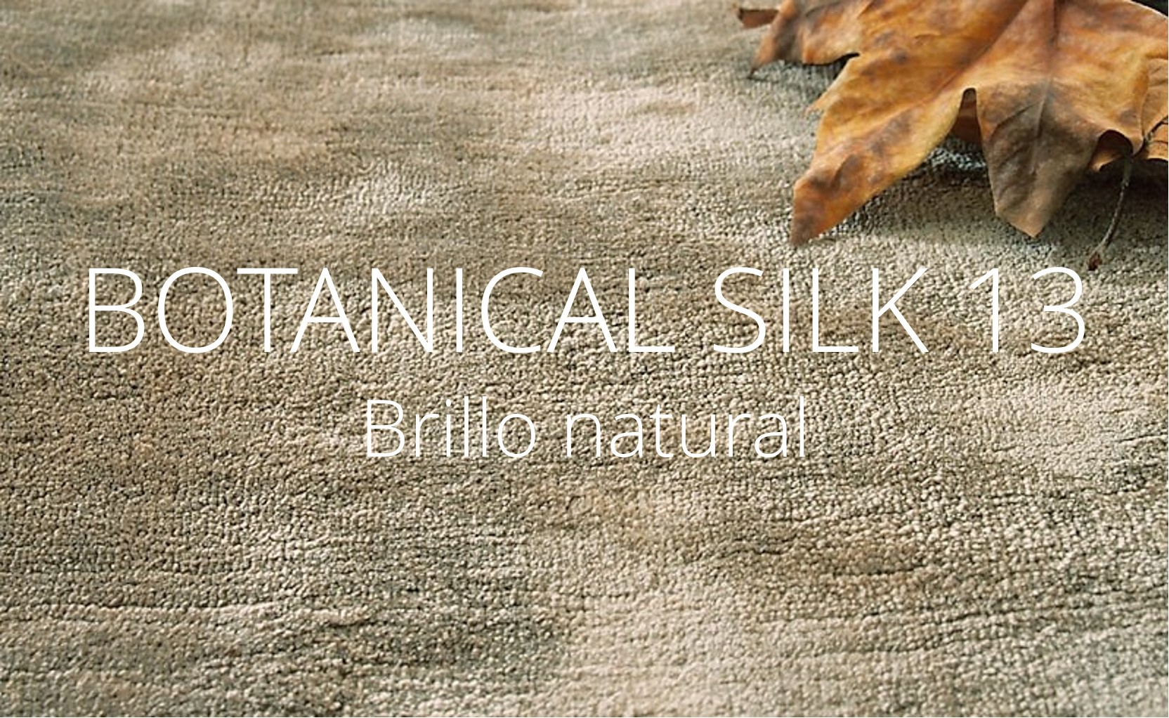 Alfombra a medida de botanical silk - brillo natural