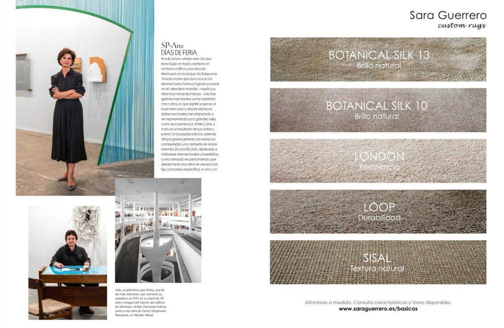 Colección Básicos de Sara Guerrero - alfombras a medida en  revista AD España Septiembre 2018